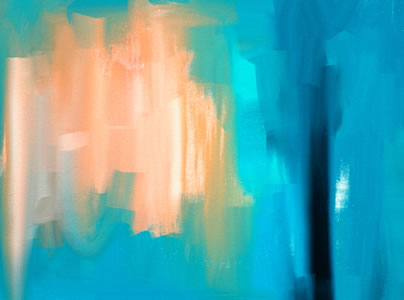 Blue and orange abstract painting