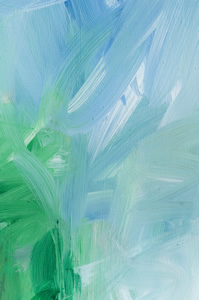 Blue-green ocean painting