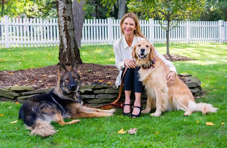 Robin Wallace with her dogs
