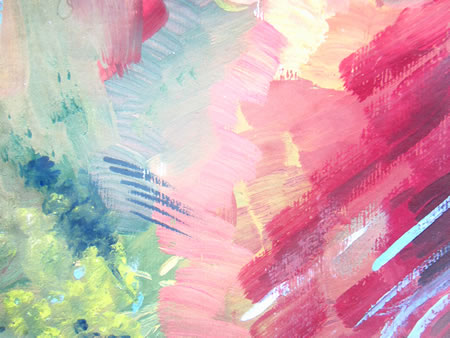 Swaths of paint colors